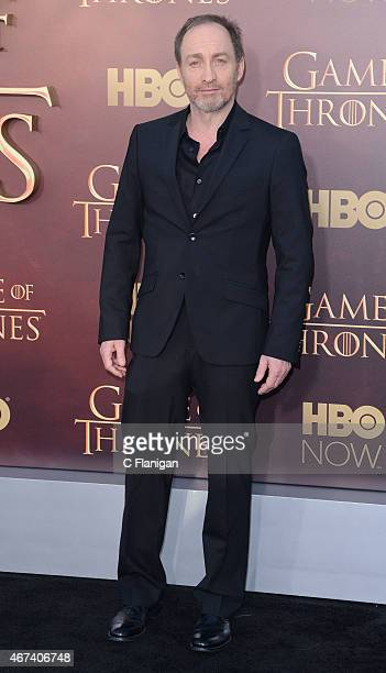 Actor Michael McElhatton attends HBO's 'Game of Thrones' Season 5 Premiere at the San Francisco War Memorial Opera House on March 23 2015 in San...