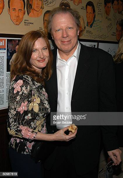 """Actor Michael McKean and his wife/actress Annette O'Toole attend the """"Hairspray"""" re-launch party on June 22, 2004 in New York City."""