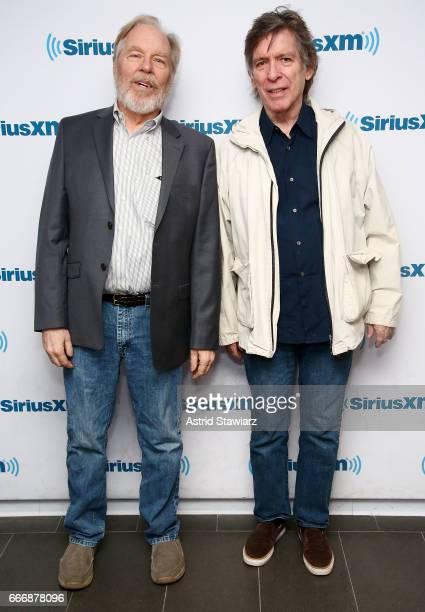 Actor Michael McKean and Kurt Loder visit the SiriusXM Studios on April 10 2017 in New York City