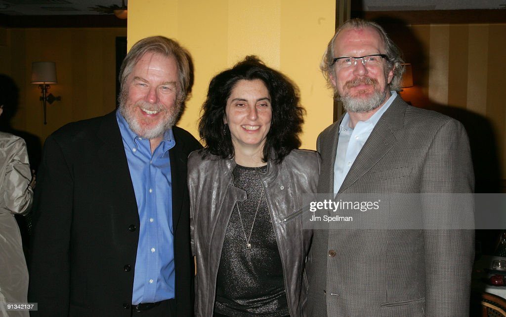 Actor Michael McKean, Director Tina Landau and Writer Tracy Letts attend the after party for the opening night of 'Superior Donuts' on Broadway at the Redeye Grill on October 1, 2009 in New York City.