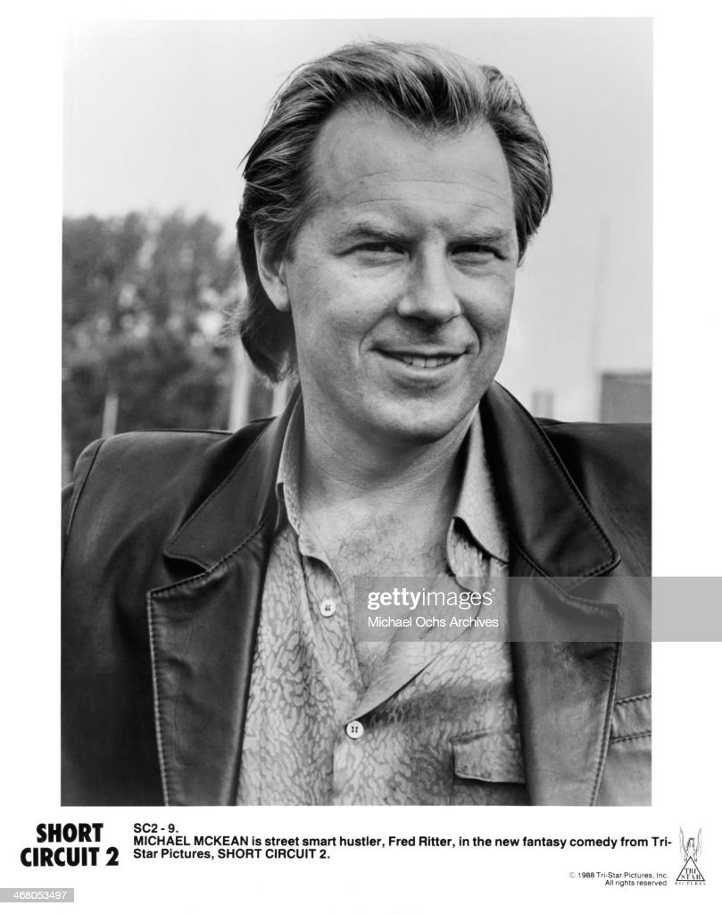 Actor Michael Mckean Poses On Set For The Movie Short Circuit 2 Shortcircuit2 News Photo