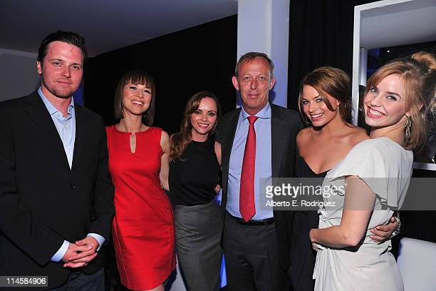 Actor Michael Mosley actress Karine Vanasse actress Christina Ricci Stuart Baxter Senior Executive Vice President Distribution attend Sony Pictures...