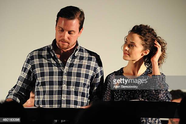 Actor Michael Mosley and actress Abigail Spencer participate in Sundance Institute Feature Film Program screenplay reading of 'Still' at The...
