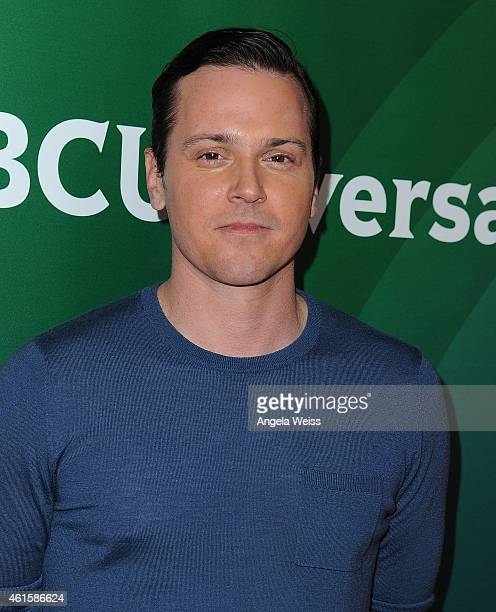 Actor Michael Mosley arrives at NBCUniversal's 2015 Winter TCA Tour Day 1 at The Langham Huntington Hotel and Spa on January 15 2015 in Pasadena...
