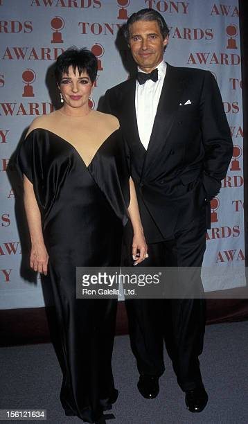 Actor Michael Nouri and actress Liza Minnelli attending 51st Annual Tony Awards on June 1 1997 at Radio City Music Hall in New York City New York