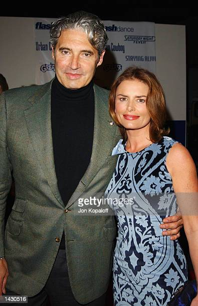 Actor Michael Nouri from the movie Flashdance and actress Roma Downey attend the Celebration of Paramount Studio's 90th Anniversary with the release...