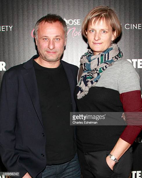 Actor Michael Nyqvist attends Gato Negro Films The Cinema Society screening of 'Hotel Noir' at the Crosby Street Hotel on November 9 2012 in New York...