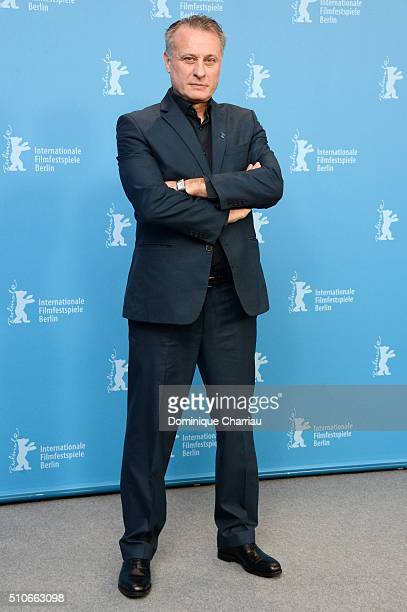 Actor Michael Nyqvist attends the 'A Serious Game' photo call during the 66th Berlinale International Film Festival Berlin at Grand Hyatt Hotel on...