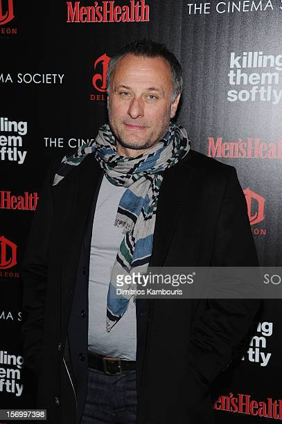 Actor Michael Nyqvist attends The Cinema Society with Men's Health and DeLeon hosted screening of The Weinstein Company's 'Killing Them Softly' on...