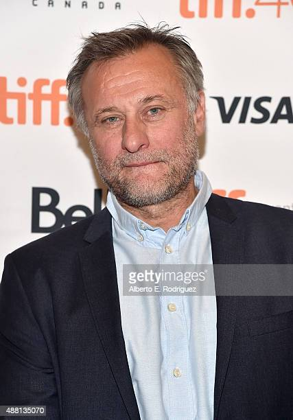 Actor Michael Nyqvist attends the 'Colonia' premiere during the 2015 Toronto International Film Festival at the Princess of Wales Theatre on...
