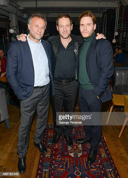 Actor Michael Nyqvist director/writer Florian Gallenberger and actor Daniel Bruhl attend 'Colonia' party hosted by Ciroc and Stella during the 2015...