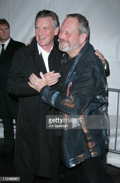 Actor Michael Palin and Director Terry Gilliam attend the IFC BAFTA Monty Python 40th Anniversary event at the Ziegfeld Theatre on October 15 2009 in...