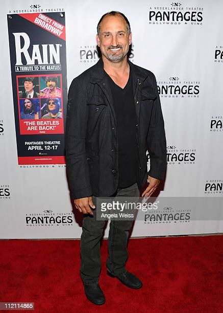 Actor Michael Papajohn arrives at the opening night of 'Rain A Tribute To The Beatles' at the Pantages Theatre on April 12 2011 in Hollywood...
