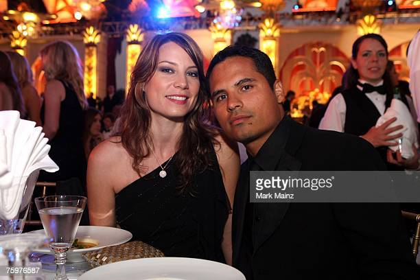 Actor Michael Pena and Brie Shaffer attend the 2007 Church of Scientology summer event celebrating the 38th anniversary of the Church of Scientology...
