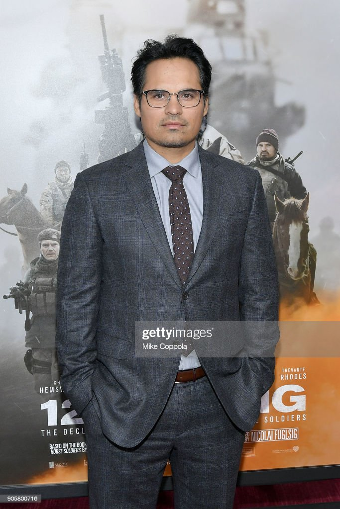 Actor Michael Pena attends the '12 Strong' World Premiere at Jazz at Lincoln Center on January 16, 2018 in New York City.