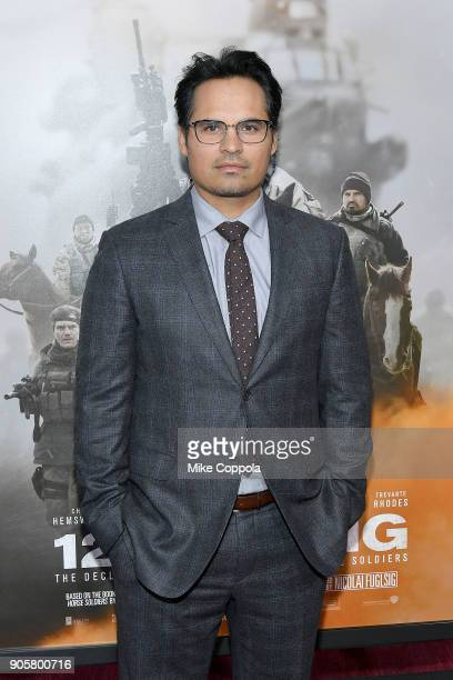 "Actor Michael Pena attends the ""12 Strong"" World Premiere at Jazz at Lincoln Center on January 16, 2018 in New York City."