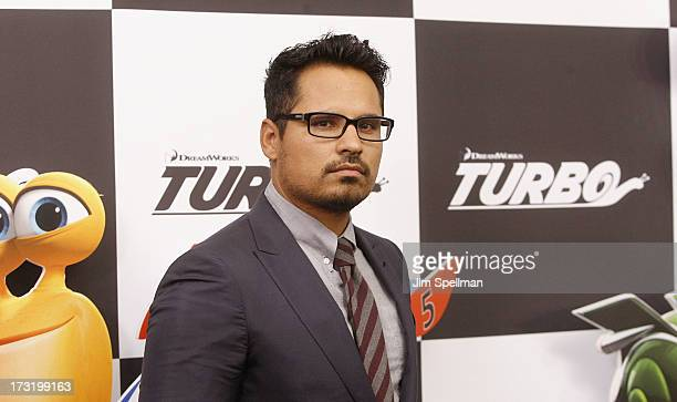 """Actor Michael Pena attends the """"Turbo"""" New York Premiere at AMC Loews Lincoln Square on July 9, 2013 in New York City."""