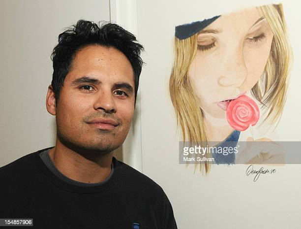 Actor Michael Pena during the opening reception for Diane MarshallGreen's Lolitas at America Martin Gallery on October 27 2012 in Los Angeles...
