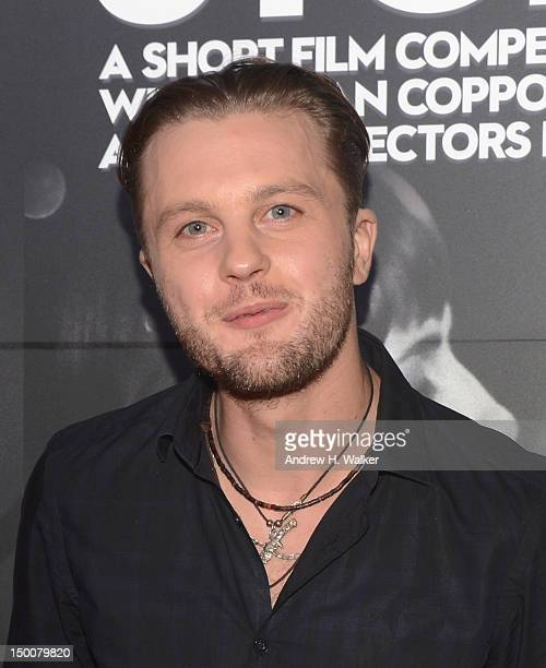 Actor Michael Pitt attends Roman Coppola W Hotels Intel Launch Innovative Film Series Four Stories at W New York Downtown on August 9 2012 in New...