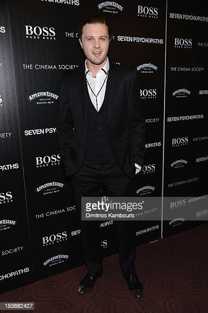 Actor Michael Pitt attends The Cinema Society with Hugo Boss and Appleton Estate screening of 'Seven Psychopaths' at Clearview Chelsea Cinemas on...