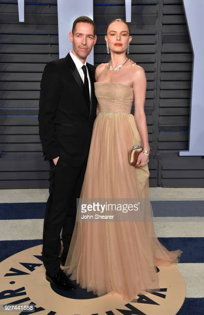 Actor Michael Polish and actress Kate Bosworth attend the 2018 Vanity Fair Oscar Party hosted by Radhika Jones at Wallis Annenberg Center for the...