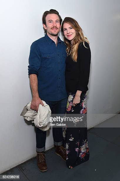 Actor Michael Rabe and actress Lily Rabe attend the Revival Screening of Bernardo Bertolucci's LA LUNA at Anthology Film Archives on April 25 2016 in...
