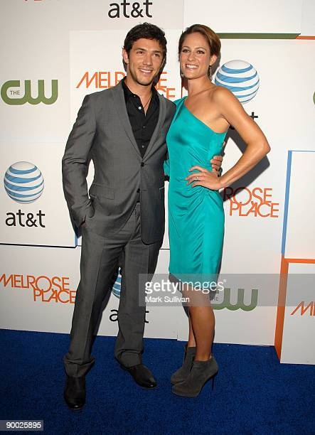 Actor Michael Rady and actress Rachael Kemery arrive at the Melrose Place Los Angeles Premiere Party on August 22 2009 in Los Angeles United States