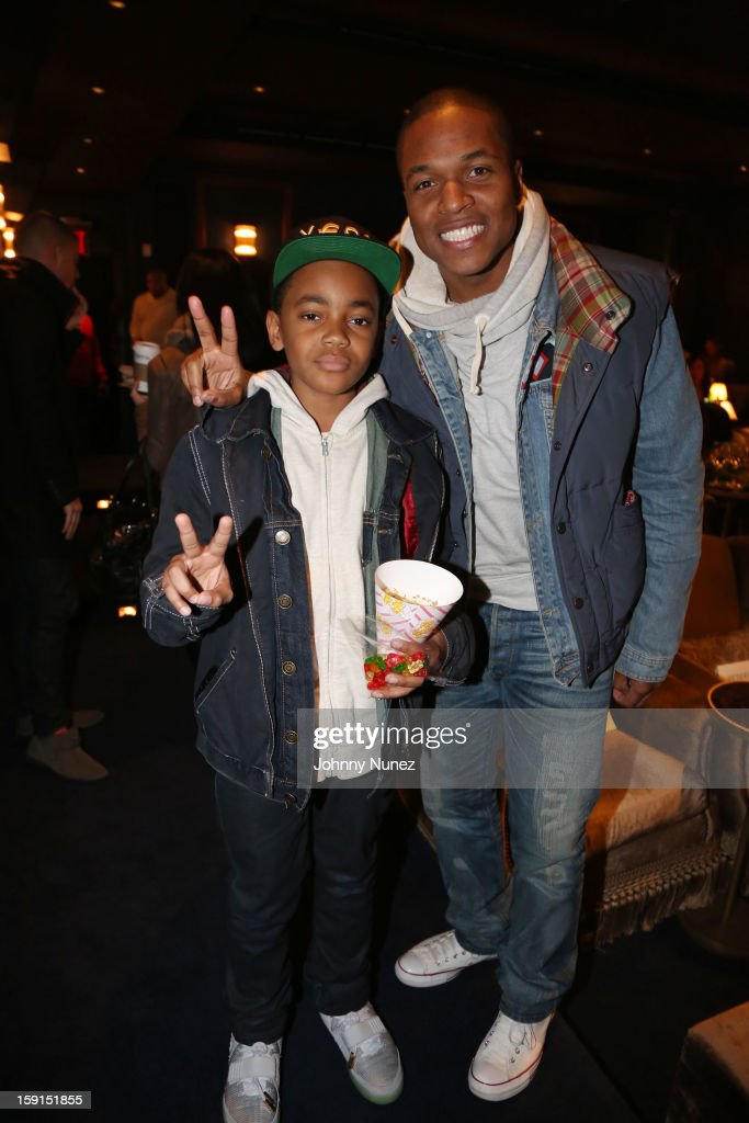 Actor Michael Rainey Jr. and director Sheldon Candis attend the 'LUV' Tastemaker Screening at Soho House on January 8, 2013 in New York City.