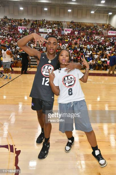 Actor Michael Rainey Jr and rapper Kodie Shane attends 14th Annual LudaDay Weekend Celebrity Basketball Game at Morehouse College on September 01...