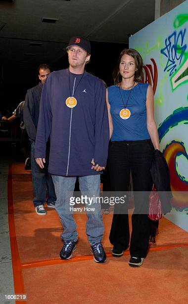Actor Michael Rappaport and wife Nicole attend the kickoff of Nike Playoff Festivals August 1 2001 at Niketown in Los Angeles CA