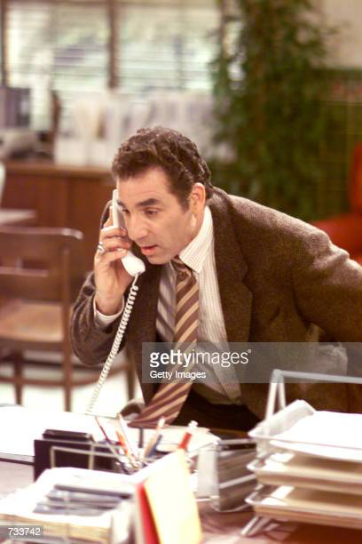 Actor Michael Richards acts in a scene from the NBC series 'The Michael Richards Show' October 26 2000 Michael Richards plays bumbling detective Vic...