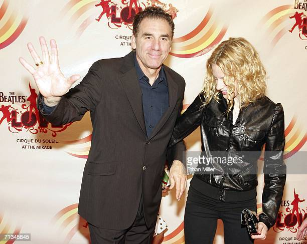 Actor Michael Richards and actress Beth Skipp arrive at the gala premiere of The Beatles LOVE by Cirque du Soleil at The Mirage Hotel Casino June 30...