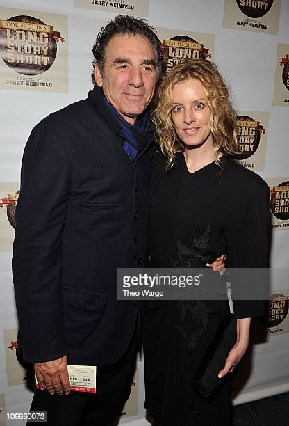 Actor Michael Richards and Beth Skipp attend the Broadway opening of Colin Quinn Long Story Short at the Helen Hayes Theatre on November 9 2010 in...