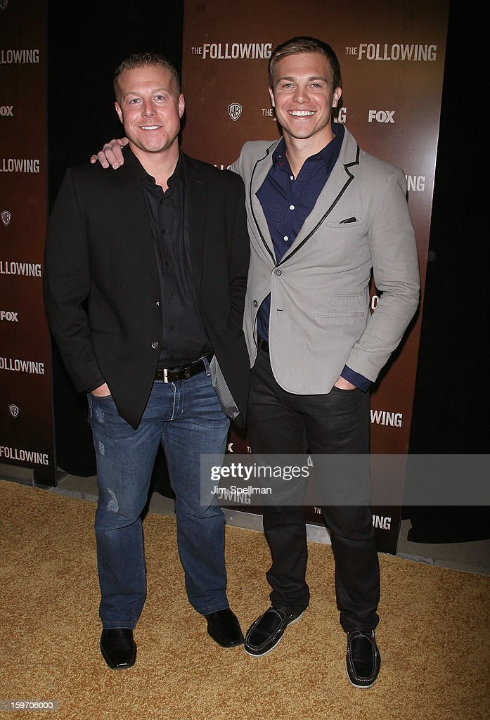 Actor Michael Roark and brother attend 'The Following' New York Premiere at New York Public Library - Astor Hall on January 18, 2013 in New York City.