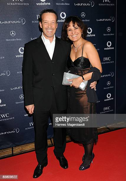 Actor Michael Roll and Rita SerraRoll attend the Laureus Media Award 2008 on November 24 2008 in Munich Germany