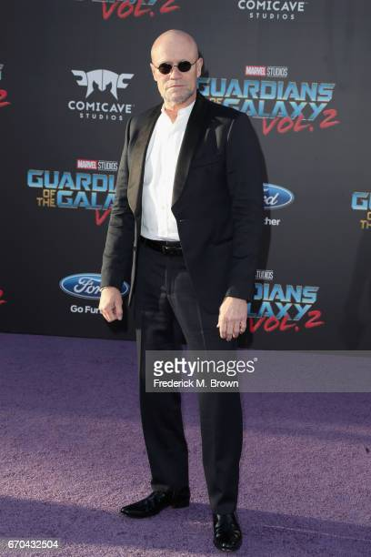 Actor Michael Rooker at the premiere of Disney and Marvel's 'Guardians Of The Galaxy Vol 2' at Dolby Theatre on April 19 2017 in Hollywood California