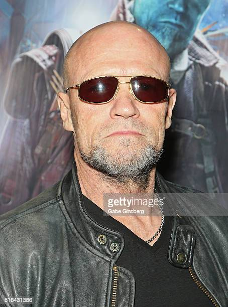 Actor Michael Rooker attends Wizard World Las Vegas at the Las Vegas Convention Center on March 18 2016 in Las Vegas Nevada