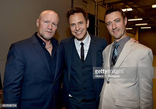 """Actor Michael Rooker Director James Gunn and actor Sean Gunn attend The World Premiere of Marvel's epic space adventure """"Guardians of the Galaxy""""..."""