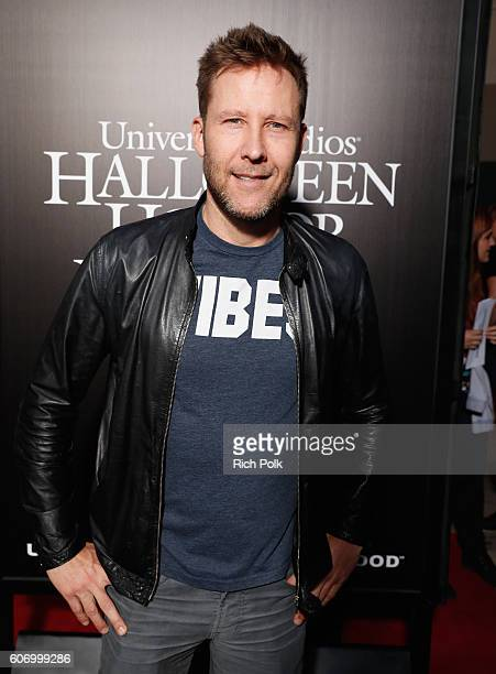 Actor Michael Rosenbaum attends Universal Studios 'Halloween Horror Nights' opening night at Universal Studios Hollywood on September 16 2016 in...