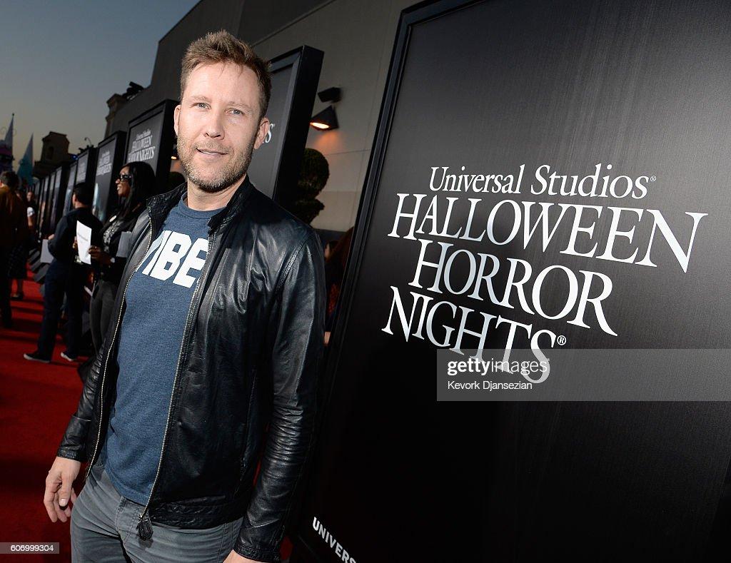actor michael rosenbaum attends universal studios 'halloween horror