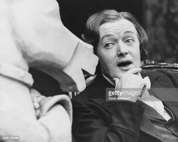 Actor Michael Rothwell pictured in costume during rehearsals for the play 'Crocodiles in Cream' at the Bristol Old Vic Theatre England August 2nd 1976