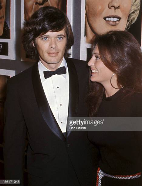 Actor Michael Sarrazin and actress Jacqueline Bisset attend the 'Airport' Hollywood Premiere on March 19 1970 at Hollywood Pacific Theatre in...