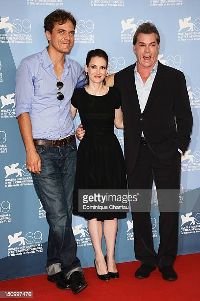 Actor Michael Shannon actress Winona Ryder and actor Ray Liotta attend 'The Iceman' Photocall during The 69th Venice Film Festival at the Palazzo del...