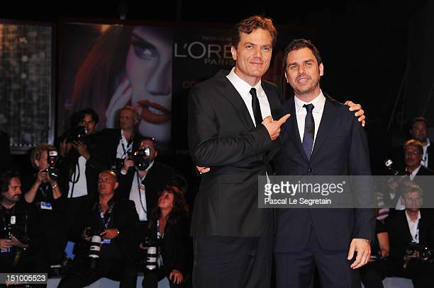 Actor Michael Shannon and director Ariel Vromen attend The Iceman premiere during the 69th Venice Film Festival at the Palazzo del Cinema on August...