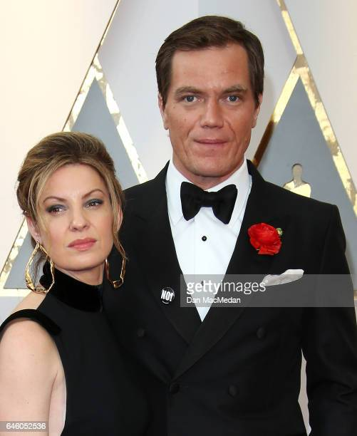 Actor Michael Shannon and Kate Arrington arrive at the 89th Annual Academy Awards at Hollywood Highland Center on February 26 2017 in Hollywood...