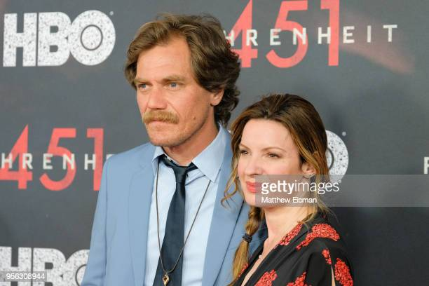 Actor Michael Shannon and Kate Arrington attend the Fahrenheit 451 New York Premiere at NYU Skirball Center on May 8 2018 in New York City