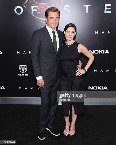 Actor Michael Shannon and Kate Arrington attend the Man Of Steel World Premiere at Alice Tully Hall at Lincoln Center on June 10 2013 in New York City