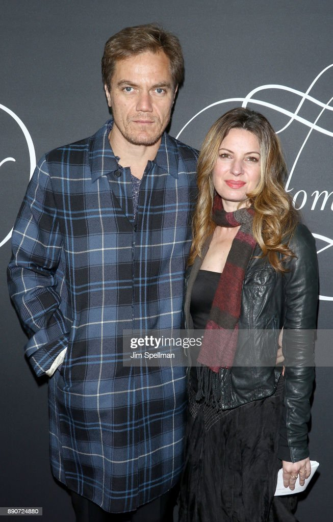 Actor Michael Shannon and Kate Arrington attend the 'Phantom Thread' New York premiere at Harold Pratt House on December 11, 2017 in New York City.