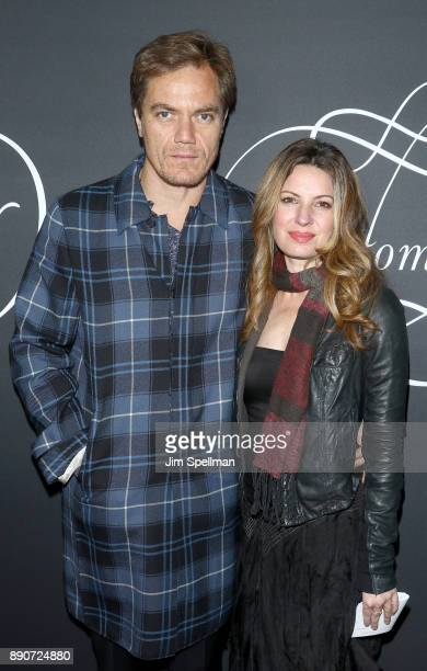 Actor Michael Shannon and Kate Arrington attend the 'Phantom Thread' New York premiere at Harold Pratt House on December 11 2017 in New York City