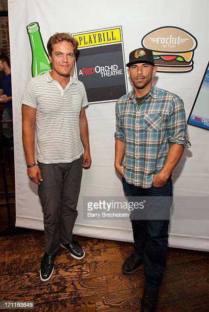 """Actor Michael Shannon and Rockit Ranch CEO Billy Dec attend the """"Man Of Steel"""" Benefit Screening Reception at Rockit Bar & Grill on June 22, 2013 in..."""